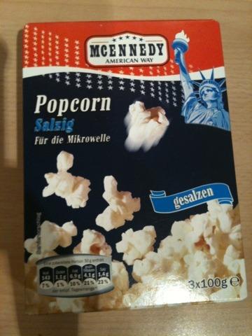MCENNEDY Popcorn salzig für die Mikrowelle