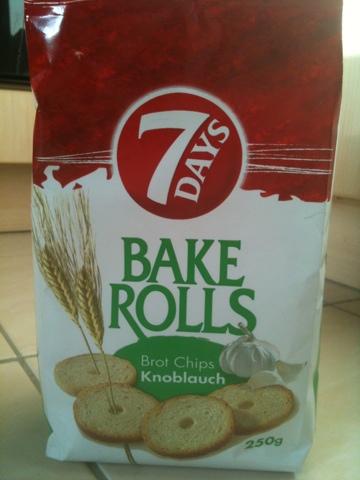7 days bake rolls Brot Chips Knoblauch 250 g