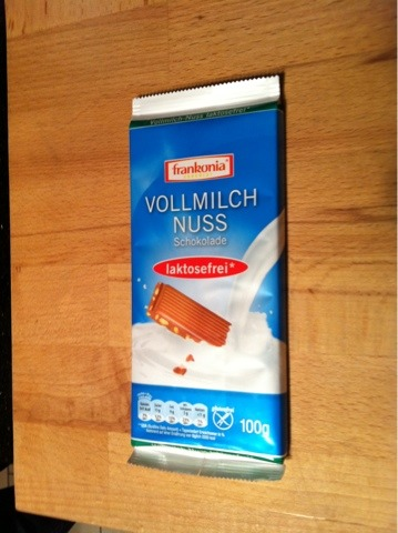 Frankonia Vollmilch-Nuss-Schokolade 100 g