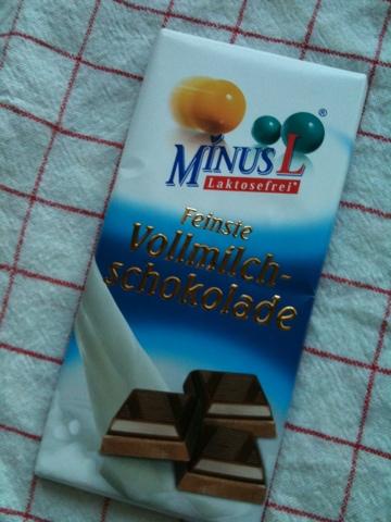 MinusL Feinste Vollmilch-Schokolade 80 g