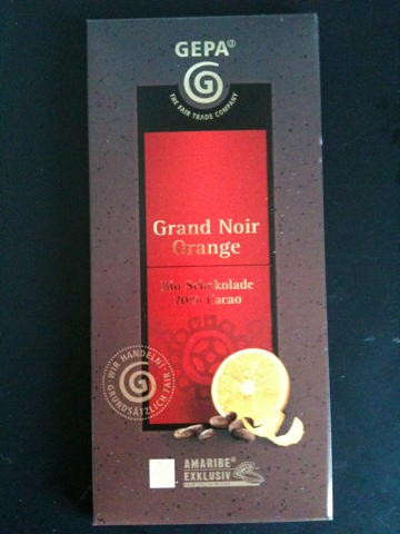 GEPA Grand Noir Orange Bio-Schokolade 100 g