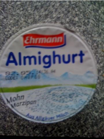 Ehrmann Almighurt Mohn Marzipan 150 g