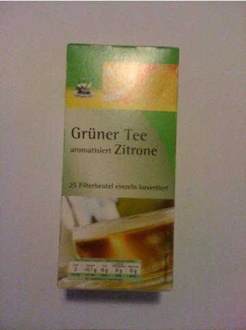 Captain's Tea Grüner Tee aromatisiert Zitrone