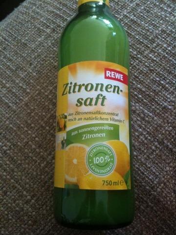 Rewe Zitronensaft 750 ml