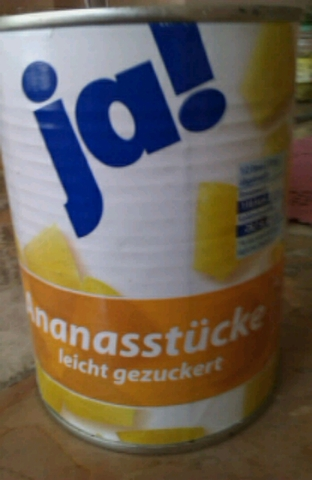 ja! Ananasstücke leicht gezuckert 565 g