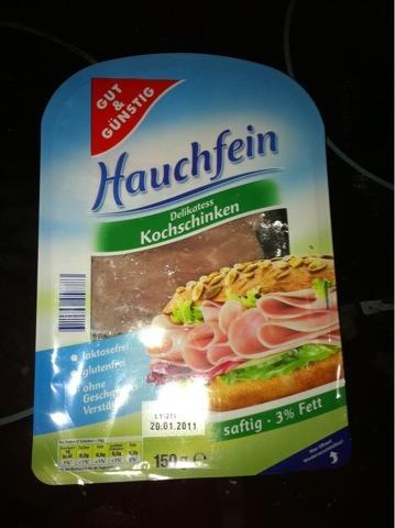 gut & günstig Hauchfein Delikatess Kochschinken