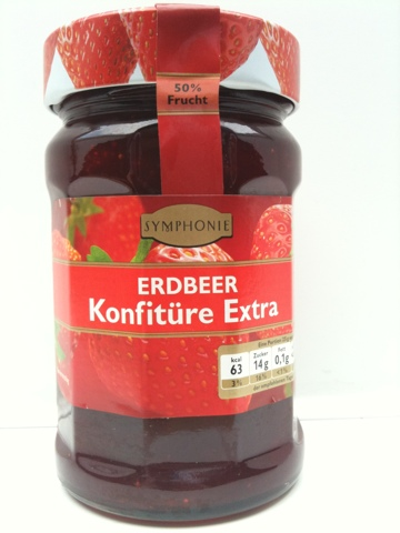 Symphonie Erdbeer Konfitüre Extra