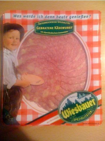 Wiesbauer, Käsewurst gebraten, 80 g