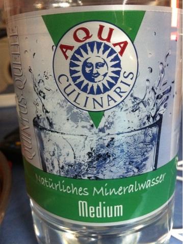 24 flaschen x 1,5ltr mediumAqua Culinaris natürliches Mineralwasser mum 1,5 l PET