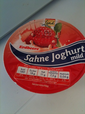 Gutes Land Sahnejoghurt mild Erdbeere 150 g