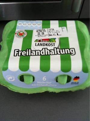 Landkost 6 frische Eier aus Freilandhaltung
