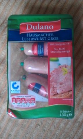 Dulano Hausmacher Leberwurst grob 130 g