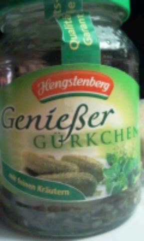 Hengstenberg Genießer Gürkchen mit Kräuter 370 ml
