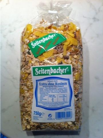 Seitenbacher Müsli 046 Extra ohne Rosinen (Aprikosen, Äpfel, Datteln) 750 g
