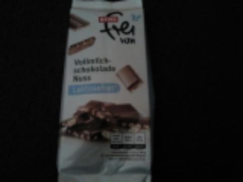 Rewe frei von Vollmilchschokolade Nuss 100g