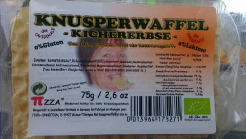 BIO-Knusperwaffel-Kichererbse  75 Gramm