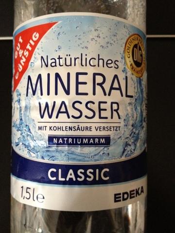 Gut & Günstig Natürliches Mineralwasser Classic 1,5 l PET