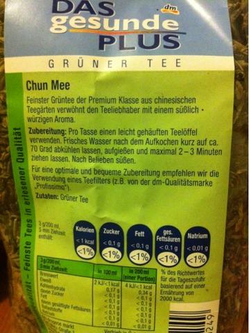 Das gesunde Plus Grüner Tee Chun Mee 200 g