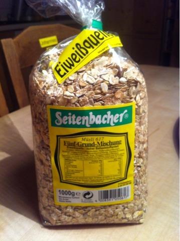 Seitenbacher Müsli 617 5-Grund-Mischung (Weizen, Hafer, Gerste, Dinkel, Roggen) 1000 g