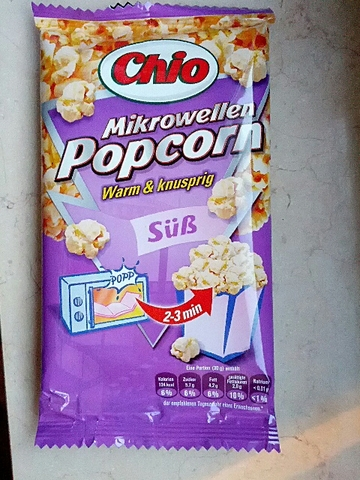 Chio Mikrowellen Popcorn Süß 100 g