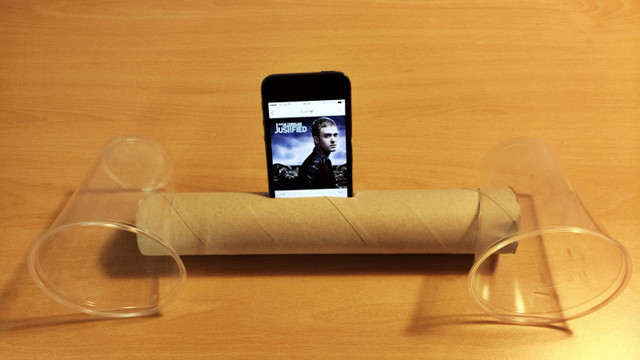 lifehack bau dir deinen eigenen smartphone lautsprecher. Black Bedroom Furniture Sets. Home Design Ideas