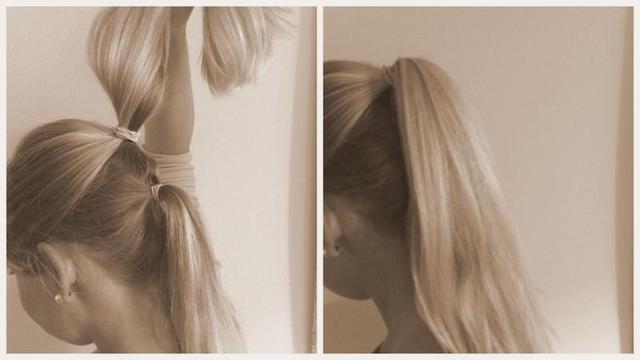 Flirten durch die haare streichen