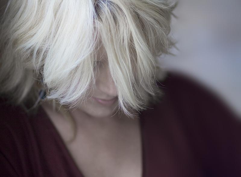 blonde Frau