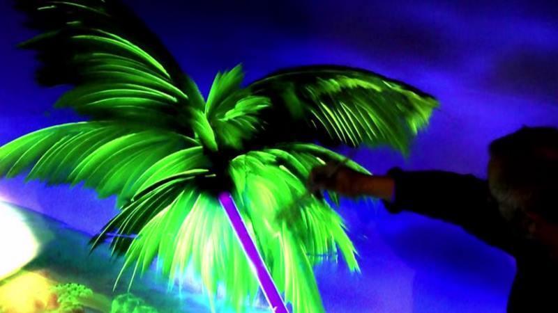 zimmer mit fluoreszierender wandfarbe zum magischen raum machen, Garten und Bauen