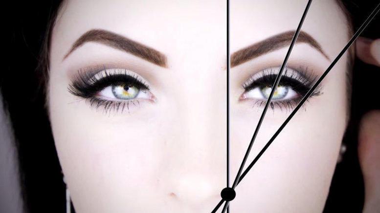 lange Härchen vorsichtig mit der Kosmetikschere abschneiden