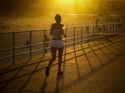 joggende Frau