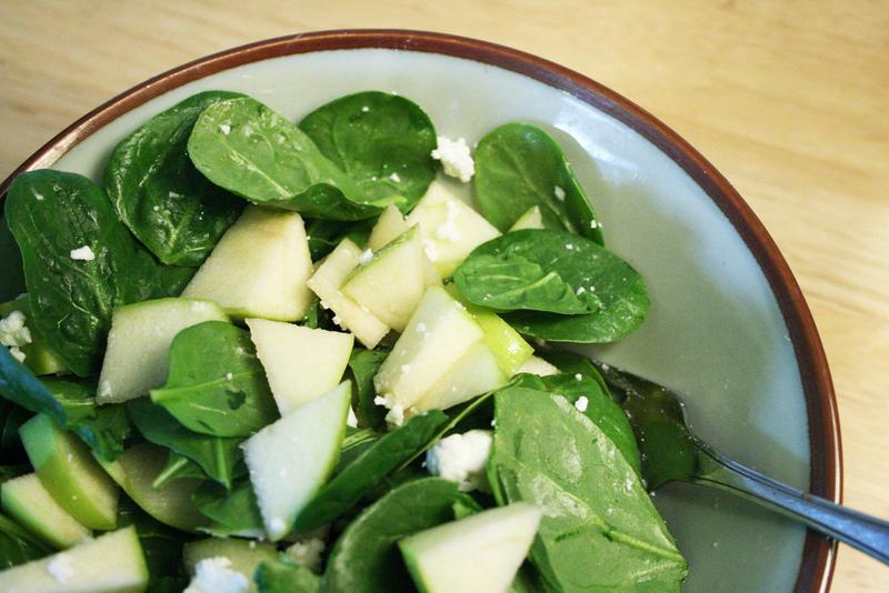 spinat apfel salat