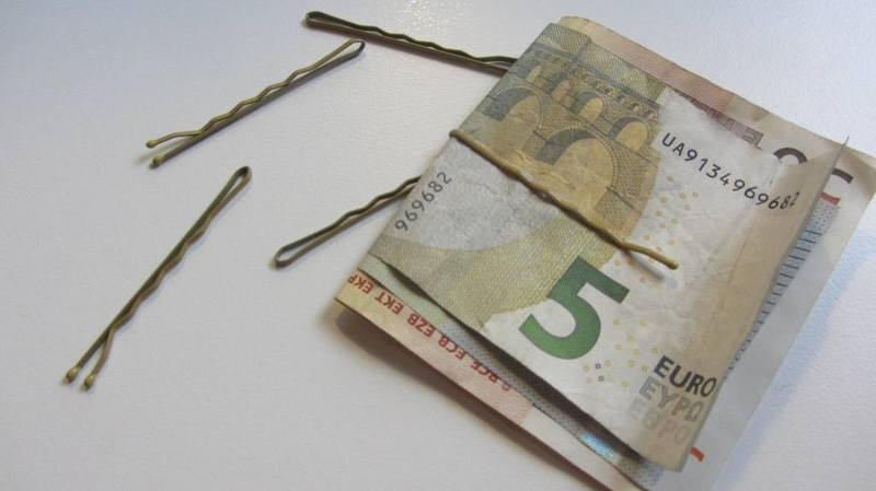 geld haarnadel