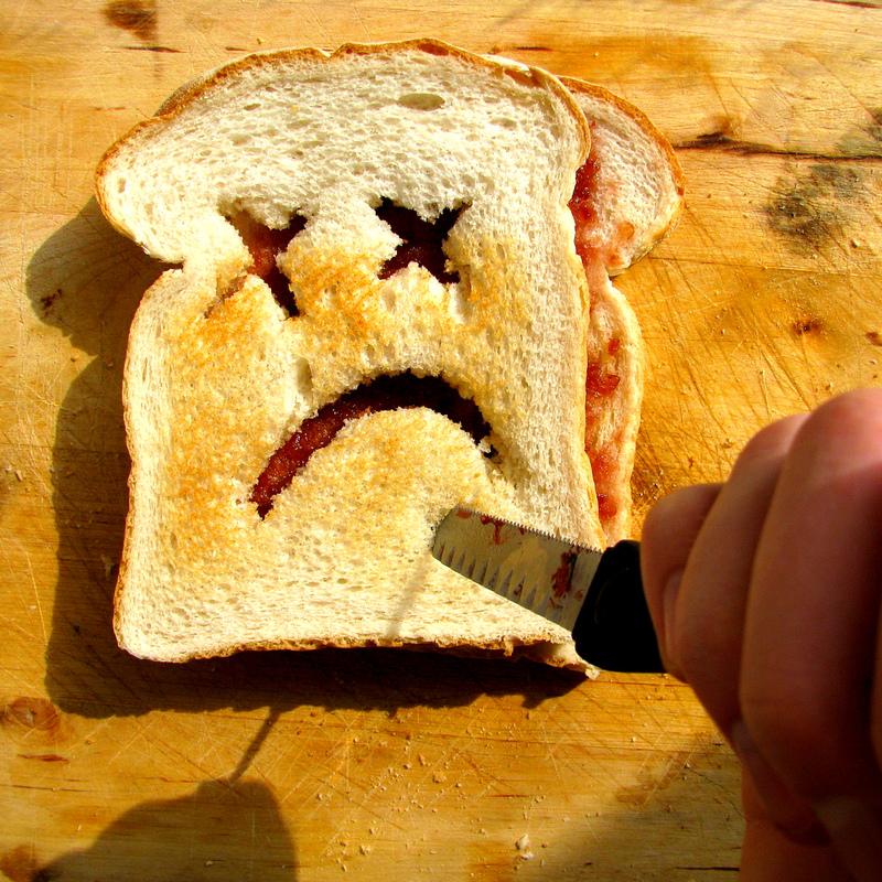 toast unglücklich