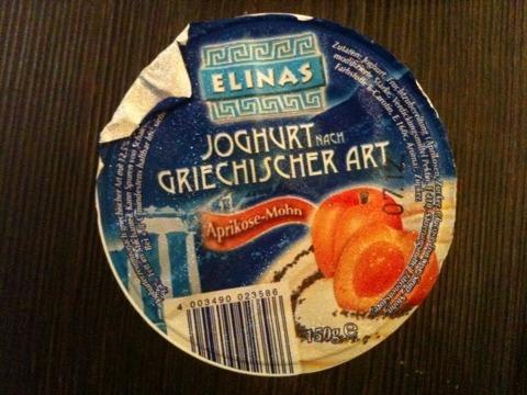 elinas joghurt nach griechischer art kalorien n hrwerte 4003490023586. Black Bedroom Furniture Sets. Home Design Ideas