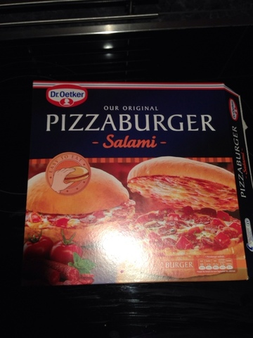dr oetker pizza burger salami kalorien n hrwerte 4001724010401. Black Bedroom Furniture Sets. Home Design Ideas